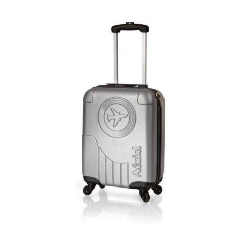 HORIZON Valise Cabine Rigide ABS 4 Roues 50cm AERIAL CLASSIC Silver