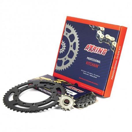 LULU CASTAGNETTE Valise Trolley Rigide ABS & Polycarbonate 4 Roues 65cm Silver