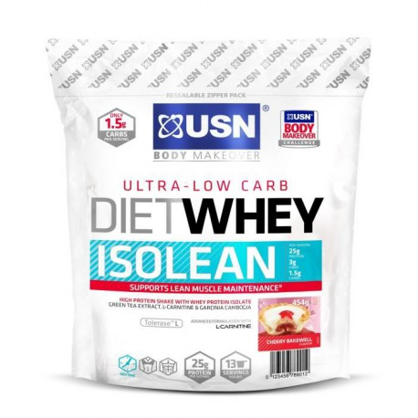 USN Protéine Diet Whey Isolean Cherry Bakewell 454 g NTT