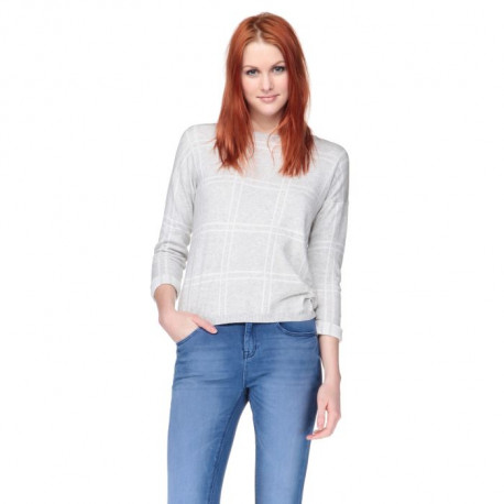 NEW LOOK Pull Gris Femme