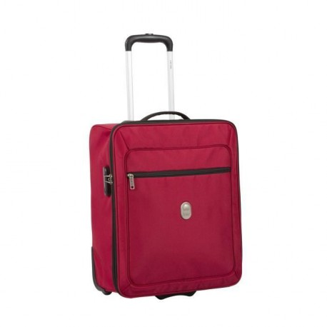VISA DELSEY Valise Cabine Souple 2 Roues 50 cm EASY FLY Rouge
