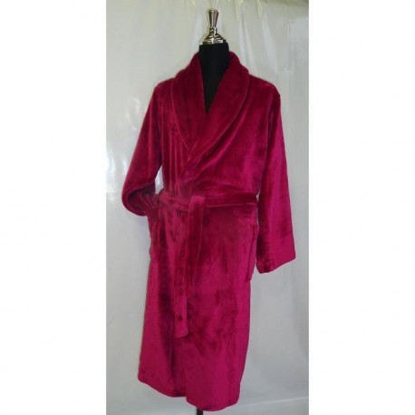 Robe de chambre microfibre Grand Luxe L/XL rose mexicain