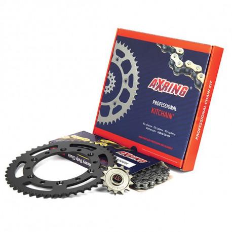 FRANCE BAG Set de 3 Valises Rigide ABS & Polycarbonate 4 Roues 55-65-75cm Bleu et Carbone