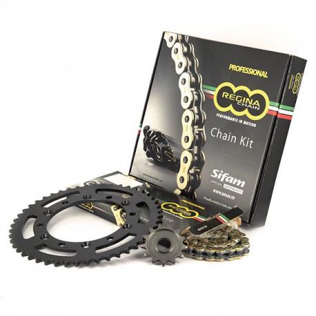 FRANCE BAG Set de 3 Valises Rigide ABS & Polycarbonate 4 Roues 55-65-75cm Bleu Ciel et Carbone