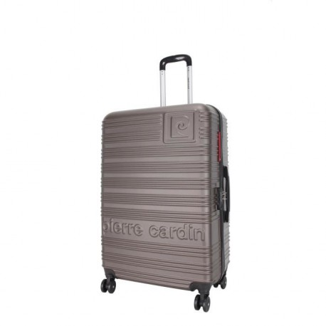 PIERRE CARDIN Valise Rigide ABS 8 Roues 60cm IBIZA Taupe
