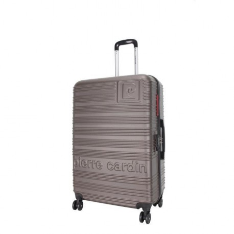 PIERRE CARDIN Valise Rigide ABS 8 Roues 70cm IBIZA Taupe