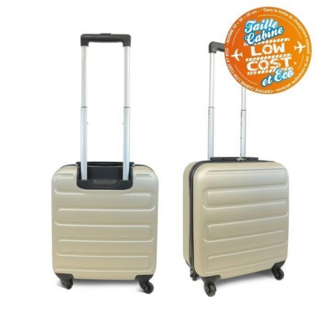KINSTON Valise Cabine Low Cost Rigide ABS 4 Roues 48 cm Champagne