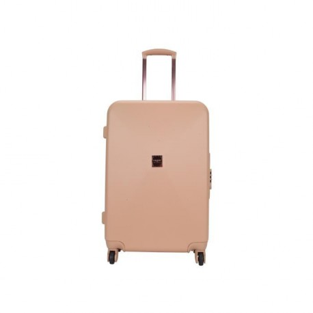 LOLLIPOPS Valise Trolley Rigide ABS 4 Roues 65cm Champagne