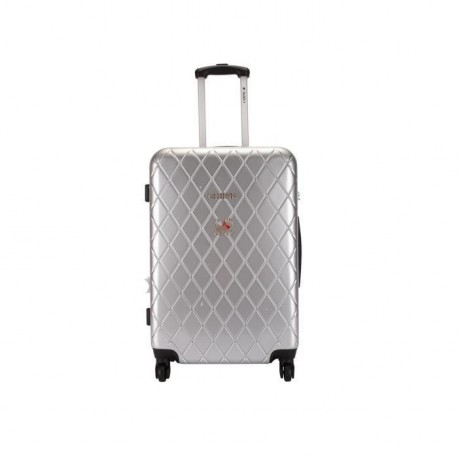 CHIPIE Valise Trolley ABS & Polycarbonate 4 Roues BHL 70 cm Argent