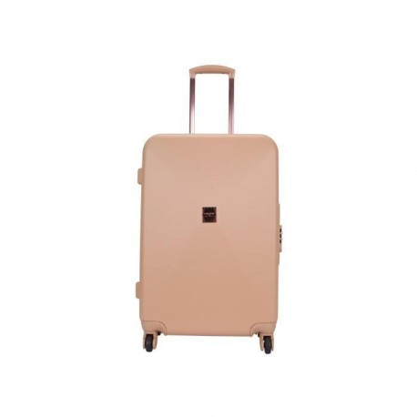 LOLLIPOPS Valise Trolley Rigide ABS 4 Roues 75cm Champagne