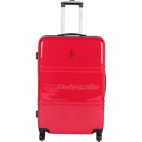 LULU CASTAGNETTE Valise ABS & Polycarbonate 4 Roues BEA 60 cm Rouge
