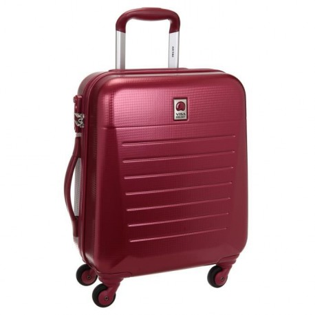 VISA DELSEY Valise Cabine Low Cost Rigide ABS 100% 4 Roues 50cm CALEO HARD Rouge