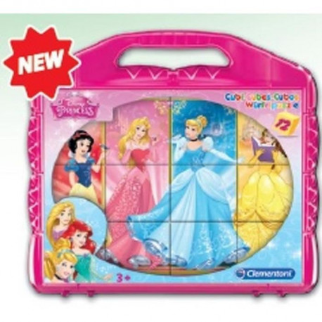CLEMENTONI - Cubes 12 pieces - Princesses