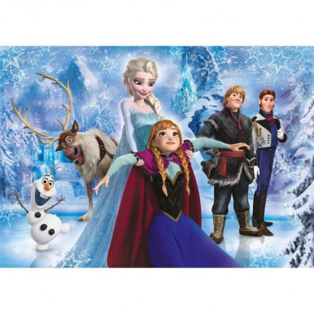 LA REINE DES NEIGES Puzzle brillant 104 pieces Clementoni