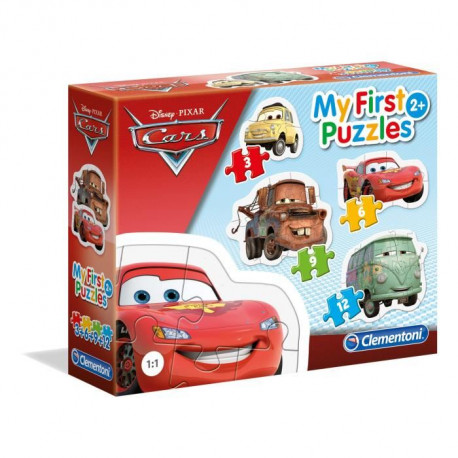 CLEMENTONI - CARS mon 1e puzzle 3-6-9-12 pieces