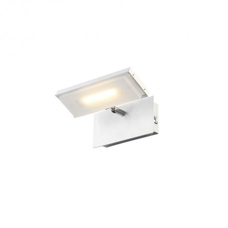 Applique LED aluminium 14x20x14cm Satiné