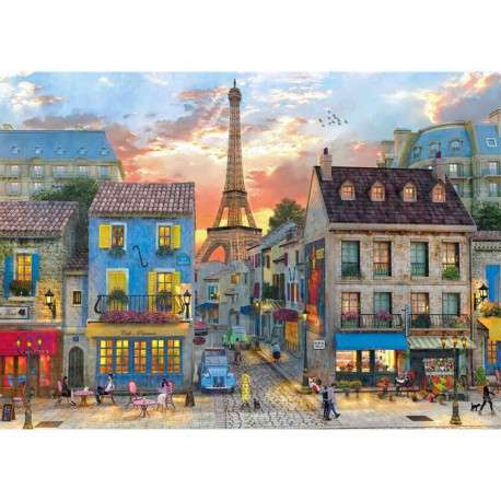 CLEMENTONI Rues de Paris Puzzle 1500 Pieces
