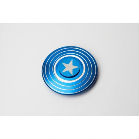 CAPTAIN AMERICA - Finger Spinner American Shield Bleu - Hand Spinner