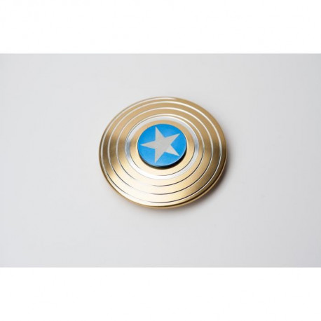 CAPTAIN AMERICA - Finger Spinner American Shield Or - Hand Spinner