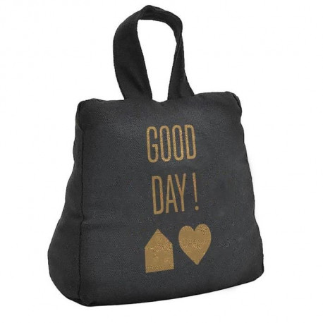 TODAY Cale porte GOLD LABEL GOOD DAY 16x18 cm noir et or
