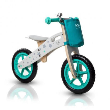 KINDERKRAFT Draisienne en bois Runner Stars - Velo sans pédale - Blanc et vert