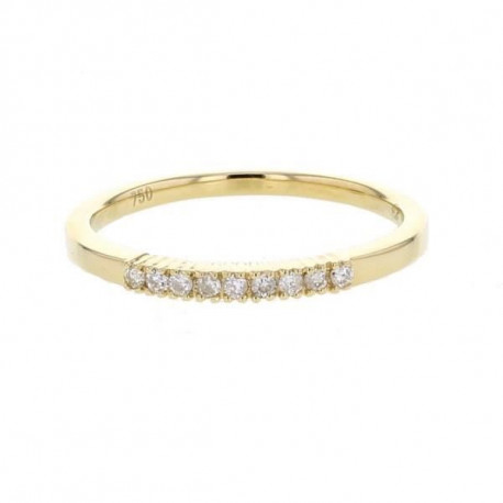 MONTE CARLO STAR Alliance Or Jaune 750° et Diamants 0.10 ct Femme