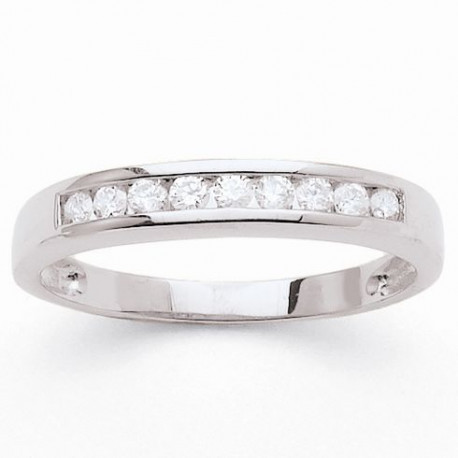 MONTE CARLO STAR Demi-alliance Or Blanc 750° et Diamants 0,30 ct Femme