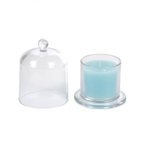 Bougie verrine cloche - 8,4 x h11 cm - Lagon