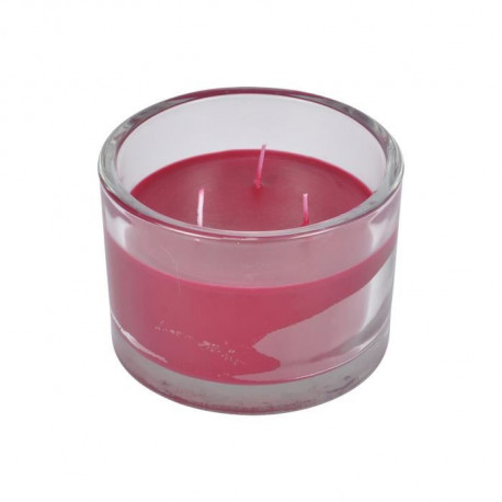 Bougie verrine parfum fruits rouges H 8,5 cm