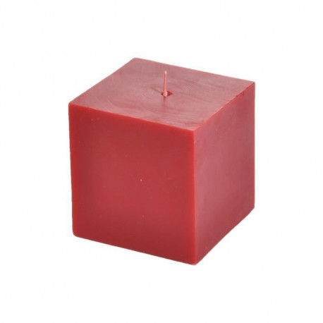 Bougie cube parfum fruits rouges H 7,5 cm