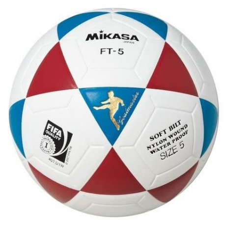MIKASA Ballon de Football FT-5 - Blanc / Bleu / Rouge
