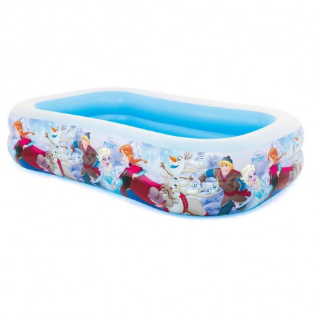 LA REINE DES NEIGES Piscine gonflable enfant Rectangulaire - Disney