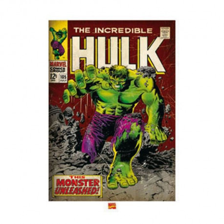 Affiche papier -  Incredible Hulk (Monster Unleashed)  - Anonyme  -  60x80 cm