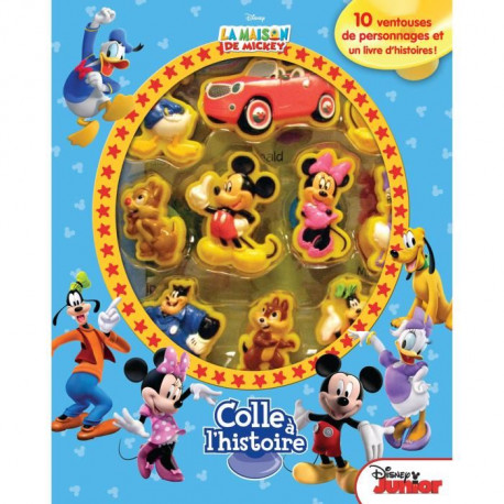 DISNEY MICKEY MOUSE Plus de 10 figurines a ventouse - Livre cartonné de 10 pages - Editions Phidal