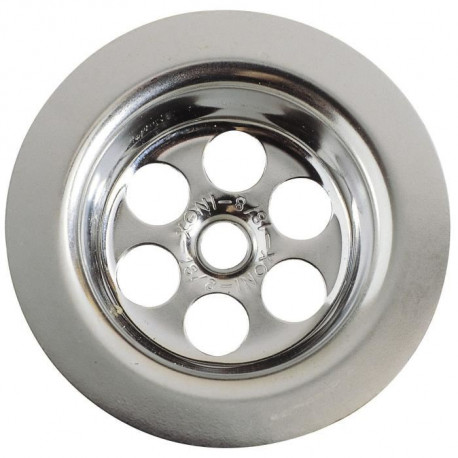 WIRQUIN Grille ronde creuse - Inox - Ø 70 mm - Baignoire
