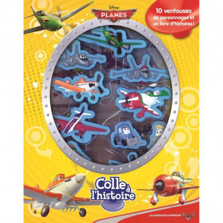 DISNEY PLANES Plus de 10 figurines a ventouse - Livre cartonné de 10 pages - Editions Phidal