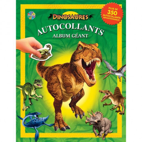DINOSAURES Album autocollant - Album autocollant 84 pages - Editions Phidal