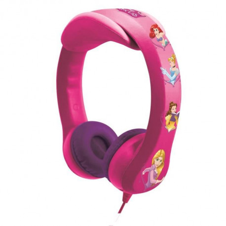 LEXIBOOK - DISNEY PRINCESSES - Casque Audio Enfant - Flexible et Incassable
