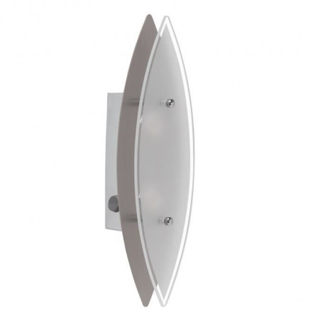 BRILLIANT Applique murale led avec interrupteur Oval - Blanc