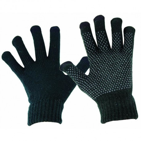 HIGHLANDER Gants Compatible Écran Tactile Tricot Grip