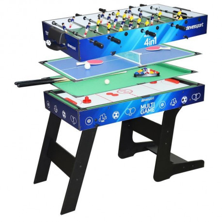 Table de jeux de bar Multijeux 4 en 1 pliable - DevesSport