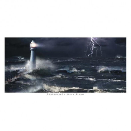 Affiche papier -  Lightning at the Lighthouse  - Bloom  - 50x100 cm