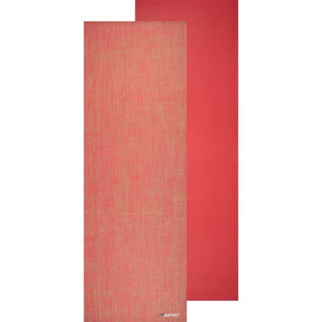 AVENTO Tapis de yoga finition jute 6 mm - Corail