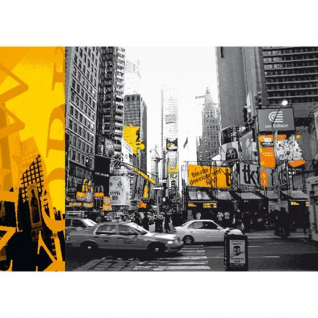 Affiche papier -  NYC Yellow  - Woods  - 60x80 cm