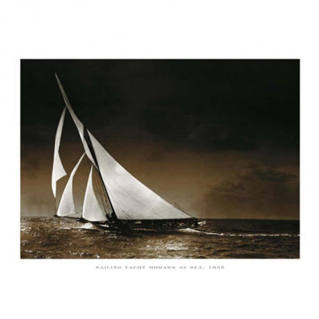 Affiche papier -  Sailing Yacht Mohawk at Sea,1895  - Photography Collection  - 24x30 cm