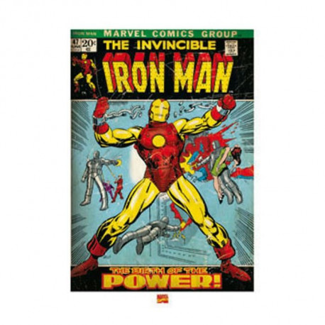 Affiche papier -  Iron Man Birth of Powe  - Anonyme  -  60x80 cm