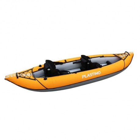 PLASTIMO Kayak Gonflable Duo - 3,20 m - 2 Places - Orange