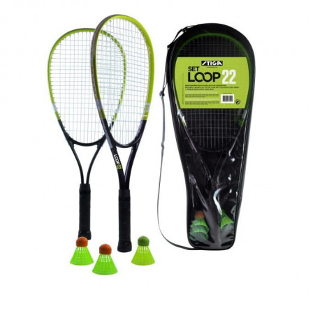 STIGA Set de speed badminton Loop 22 - Noir et vert