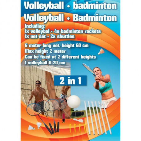 Volleyball / badminton - Set 9pc