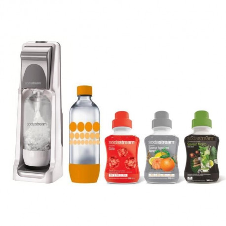 SODASTREAM MÉGA PACK Machine a soda Cool + 3 concentrés + 1 bouteille